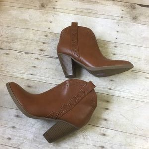 Indigo Rd Western Booties Heeled Boot Shoes New